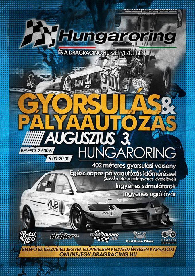 drag race hungaroring beschleunigungsrennen flyer 2014
